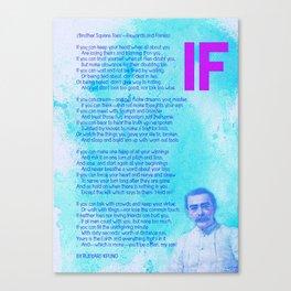 If BY RUDYARD KIPLING v2 Canvas Print