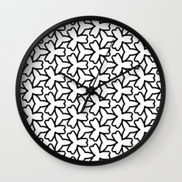 Pattern Abstrait Formes Noir Wall Clock