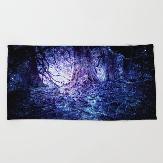 The Wishing Tree : Purple Blue Beach Towel