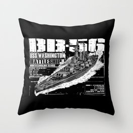 USS Washington (BB-56) Throw Pillow