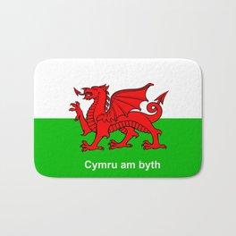 Cymru am byth (Wales For Ever) Bath Mat