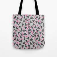 toddler Tote Bags featuring Trizza - triangle zig zag modern minimal trendy pattern print gender neutral non binary art for all by CharlotteWinter