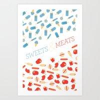 Sweets & Meats Art Print