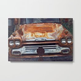 Rusted Chevy Bumper  Metal Print