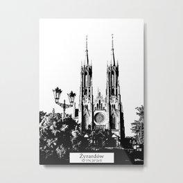 Zyrardow minimal city #zyrardow Metal Print