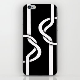 two untied iPhone Skin