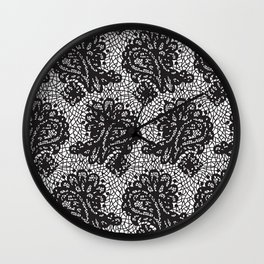 Lace in black Wall Clock
