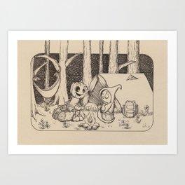 Roasted Art Print