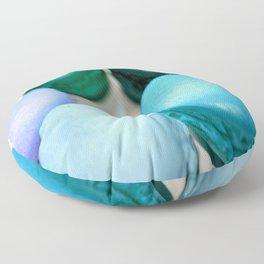Macarons / Macaroons Teal Blue Floor Pillow