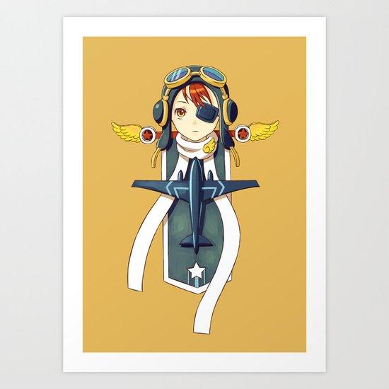 Pilot Banner Art Print