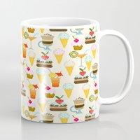 dessert Mugs featuring Dessert by Valendji