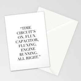 Flux Capacitator Stationery Cards