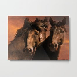 Three Spanish Mustangs Metal Print