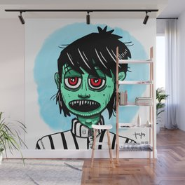 Zombie ready for job interview Wall Mural