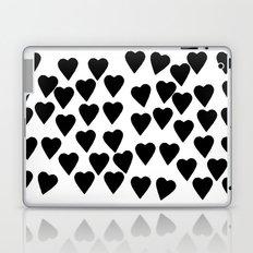Hearts Black and White Laptop & iPad Skin
