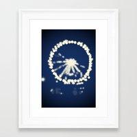 ferris wheel Framed Art Prints featuring Ferris Wheel  by Lauren Lee Design's