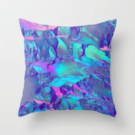 Holographic Artwork No 13 (Crystal) Throw Pillow