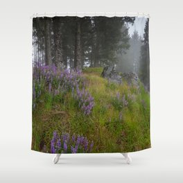 Bald Hill Lupines Shower Curtain