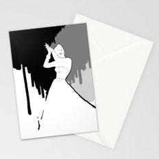 'Back to Black' Fashion Illustration Stationery Cards