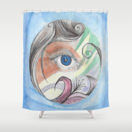 Color Vision Shower Curtain