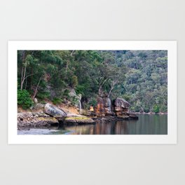 Aussie Bush, Cowan Creek, Ku-ring-gai Chase National Park, Sydney Art Print