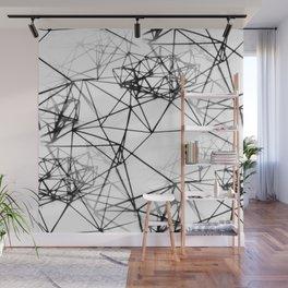 Geometric himmeli ornaments as minimal seamless pattern Wall Mural