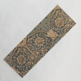 Honeysuckle by William Morris 1876,  Printed Linen, Vintage Pattern, CC0 Spring Summer Yoga Mat