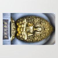 buddha Area & Throw Rugs featuring Buddha  by David Pyatt