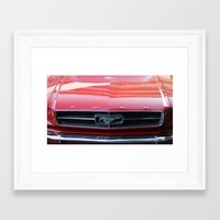 mustang Framed Art Prints featuring Mustang by JJ's Graphics & Photography