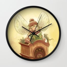 Goblins Drool, Fairies Rule! - Hickory Dock Wall Clock