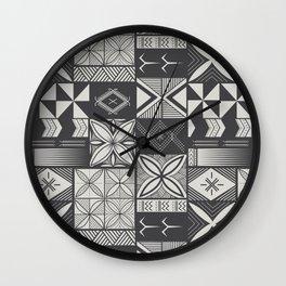 UrbanNesian Grey Siapo and Tatau Wall Clock