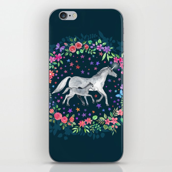 Mama and Baby Unicorn iPhone Skin