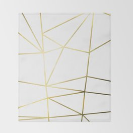 Gold Metallic Nodes Throw Blanket
