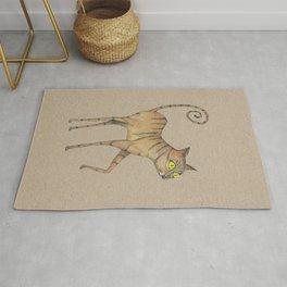 Long legged cat Rug