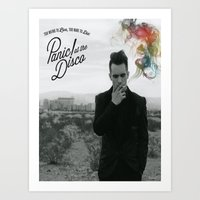 panic at the disco Art Prints featuring Panic! At The Disco Album Cover by marinasdiamonds