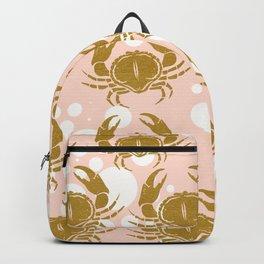 Golden sea crab Backpack