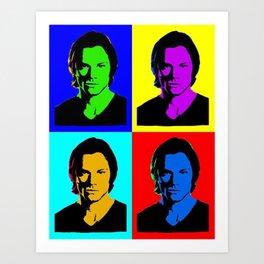 Jared Padalecki Pop Art Art Print