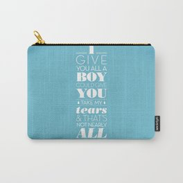 One Hit Wonder- Tainted Love in Teardrop Blue Carry-All Pouch