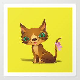 The Great Gold Meow Art Print