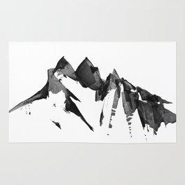 Mountain Painting | Landscape | Black and White Minimalism | By Magda Opoka Rug