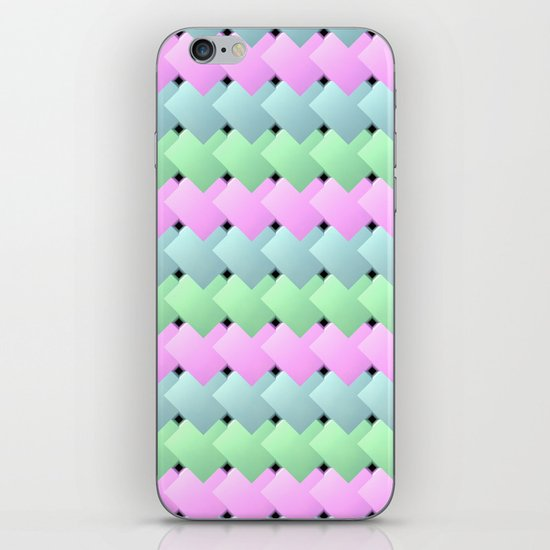 Overlapping Diagonal Square Pattern iPhone & iPod Skin