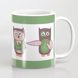 Hoo? Cartoon Owls Coffee Mug
