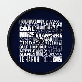 Hibiscus Coast V2 Wall Clock
