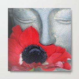 Anemone Buddha Metal Print