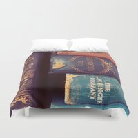 reading Duvet Covers featuring Sunday Reading by elle moss