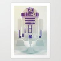 starwars Art Prints featuring StarWars R2D2 by Joshua A. Biron