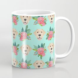 Yellow Labrador Retriever floral bouquet flowers yellow lab dog breed pattern gifts Coffee Mug