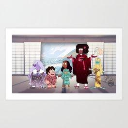 Crystal Gem Kimono Art Print