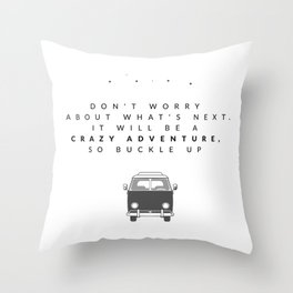buckle up Throw Pillow