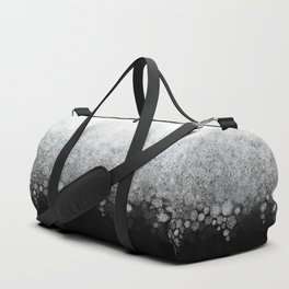 Snowfall on Black Duffle Bag